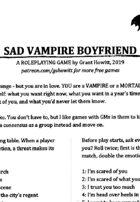 Sad Vampire Boyfriend