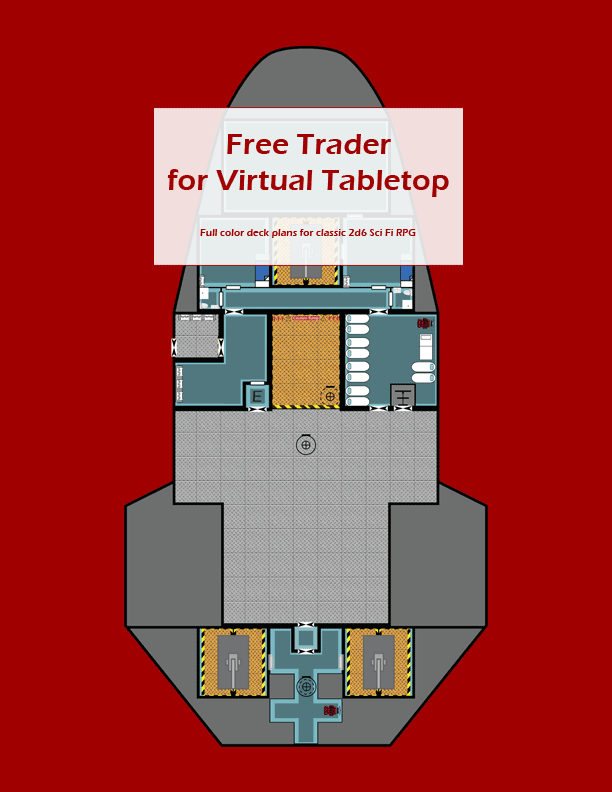Free Trader Deck Plans - CyborgPrime Publishing   DriveThruRPG.com