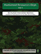 Humanoid Resources Dept Vol 1: d66 Human Space Marines