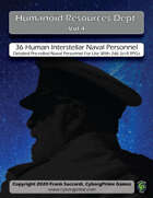 Humanoid Resources Dept. Vol 4: d66 Human Interstellar Naval Personnel
