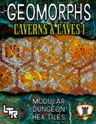 Hex Geomorphs: Caverns & Caves Set 1