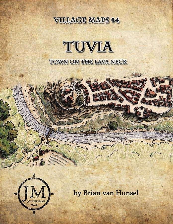 Tuvia - Town on the Lava Neck - Village Maps #4