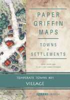 Paper Griffin Maps: Towns & Settlements - Temperate Towns 01 - Village