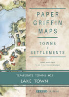 Paper Griffin Maps: Towns & Settlements - Temperate Towns 03 - Lake Town