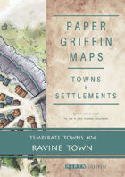 Paper Griffin Maps: Towns & Settlements - Temperate Towns 04 - Ravine Town