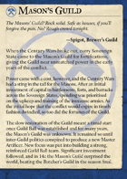 The Mason's Guild All Cards [BUNDLE]