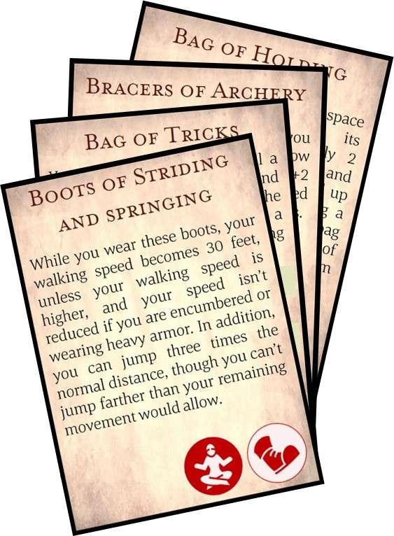 5e Uncommon Magic Item Cards - Michael Lippert | DriveThruRPG com