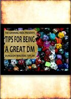 Tips for Being a Great Dungeon Master