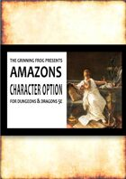 Amazons - a race option for 5th edition DnD