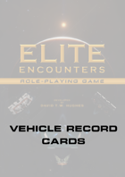 Elite Encounters RPG Blank Vehicle Record Cards
