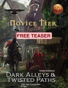 Novice Tier (13th Age Compatible) - Free Teaser for Dark Alleys & Twisted Paths