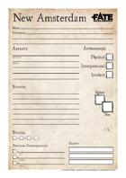 Character sheet New Amsterdam FAE