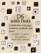 d6 With Dots dice fonts