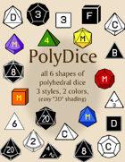 PolyDice dice font collection [BUNDLE]