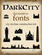 DarkCity decorative font