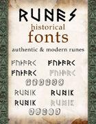 Runes historical fonts