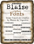 Blaise cipher fonts