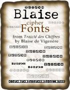 Blaise cipher fonts
