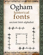 Ogham historical fonts