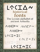 Lycian historical fonts