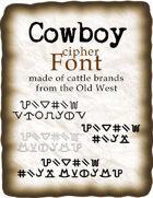 Cowboy cipher font