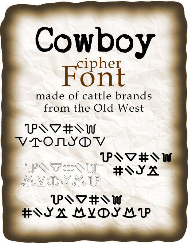 Cowboy cipher font - Wintertree Software | Cipher Fonts ...