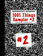1001 Things Sampler #2