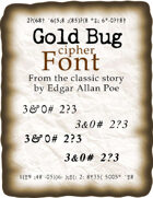 Gold Bug cipher font