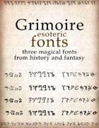 Grimoire esoteric fonts