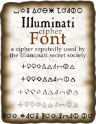 Illuminati cipher font