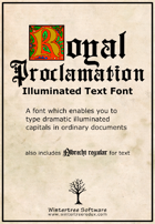 Royal Proclamation illuminated font