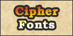Cipher Fonts