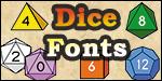 Dice Fonts