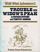 Wild West RPG: Trouble on Widow's Peak