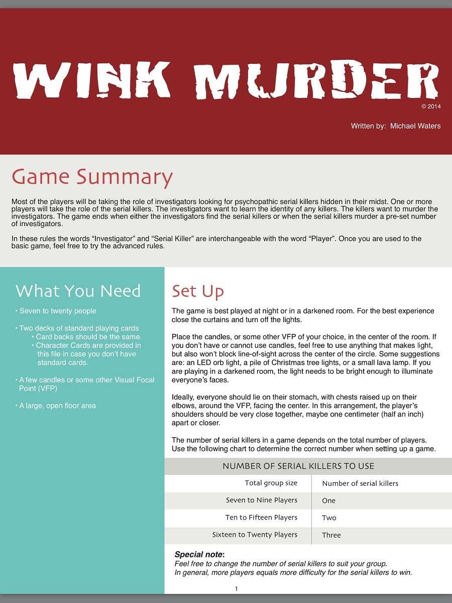 Wink Murder (Color)