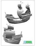 COG Ship for 3d printing (STL File)