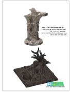 4 bases for flying minitures -STL files-