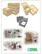modular arabic buildings (stl file) [BUNDLE]