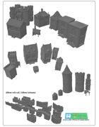 modular medieval Fortress or Castle SET - OPENLOCK (STL File)
