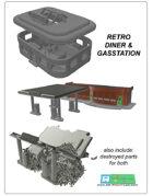 Retro Diner & Gas Station Set (STL File)