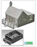 Old wooden shop for 3d printing (STL File)