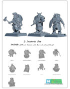3x Dwarf minitures -STL files-