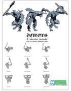 3x Demons -STL files-