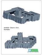 modular desert fort SET OPENLOCK (STL File)
