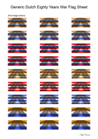 Flag Sheet: Generic Dutch 80 Years War Flags