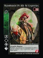 Baudouin Iv Dit Le Lépreux - Custom Card