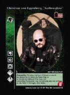 "Christian Von Eggenberg, ""gallowglass"" - Custom Card"