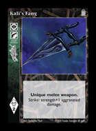 Library - Kali's Fang - Equipment