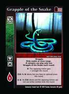 Grapple Of The Snake - Custom Card