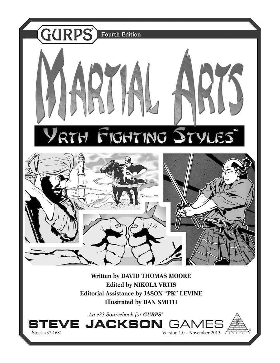 Gurps Martial Arts Yrth Fighting Styles Steve Jackson Rpgnow